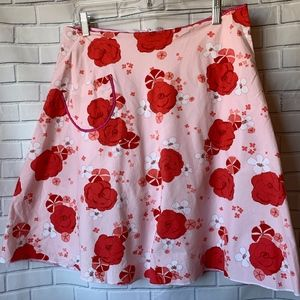 Anthropologie Lapis Floral A-Line Skirt Size L